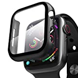 ZXK CO Compatible Apple Watch Case 40mm Series 5/4 with Screen Protector, Overall Full Protective Hard PC Bumper Case Ultra-Thin HD Glass Screen Protector for iWatch Series 4 Series 5 (40mm)