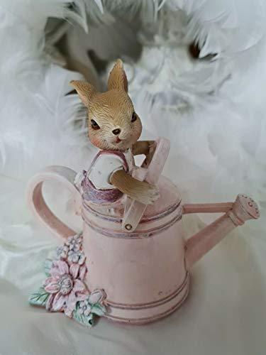 Coniglietto pasquale caraffa rosa decorativa pasquale Shabby Vintage decorazione 10 cm