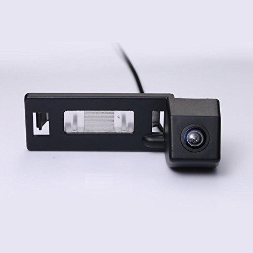 Dynavision Universal Vista trasera cámara CCD Chip para A1 A4 B8 A5 5D S5 TT Roadster Q5 RS Coupe Cabriolet modelos de coches (Negro)