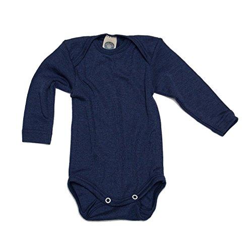 Cosilana Cosilana Baby-Body, 70% Wolle, 30% Seide, für Baby Gr. 3 Jahre, Bleu - Marine