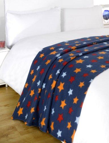 Dreamscene–Manta, diseño de estrellas,, poliéster, multicolor