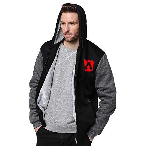 A-PEX - Sudadera con capucha para hombre, estilo casual, suelto, de manga larga, con bolsillos, con placa de felpa
