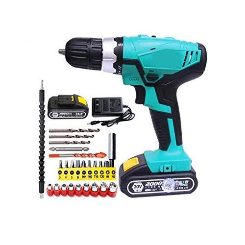 Draadloze Boor, Household Draadloze Multifunctionele Boor, 20V Lithium batterij Drill, elektrische schroevendraaier, Power Tool (Kleur: 2 elektriciteit, Grootte: 20V) lili