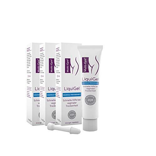 Multi-Gyn LiquiGel Vaginalgel zur Anwendung bei Scheidentrockenheit Tube mit 30 ml gel + Applikator zur äußerlichen Anwendung im Intimbereich und in der Scheide (x3)