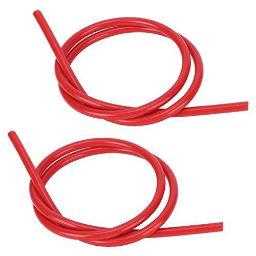 Alambre de encendido de alta resistencia de silicona 2 piezas Accesorio de encendido para automóvil(red)