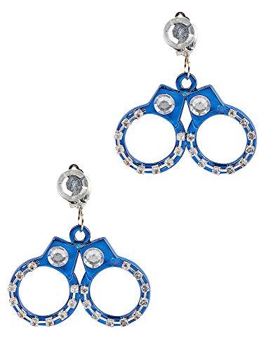 Funny Fashion NEU Ohrringe Handschellen als Clip, 1 Paar
