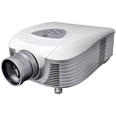 """Full HD 1080p Video & Cinema Home Theater Projector - Built-in Stereo Speaker, LCD + LED Lamp, 7"""" Widescreen Display, Digital Multimedia, HDMI & VGA Inputs for TV PC Game Business Computer & Laptop"""