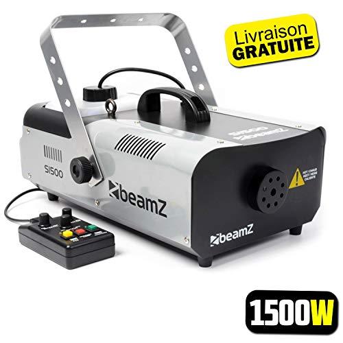 Nebelmaschine 1500W - DMX - Fernbedienung mit Timer und Kabel 3M - Beamz S1500