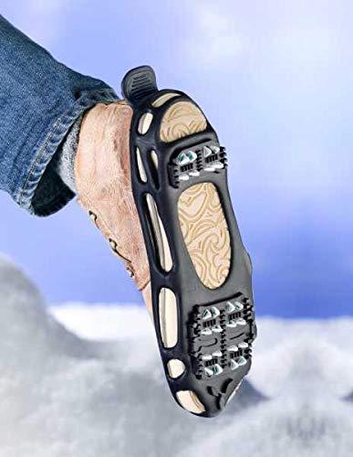 WENKO Schuhspikes Profi Größe 42-46 Schnee Spikes für Schuhe Spikes für die Schuhe Spikes für Schuhe bei Glatteis Schuhspikes Schuhspikes Winter Spikes
