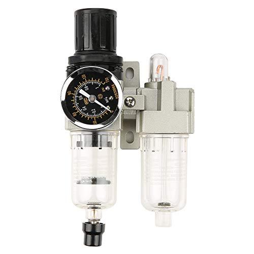 Luchtfilterregelaar, G1/4 500L/min Luchtbron Gasbehandelingsunit Filterdrukregelaar met meter