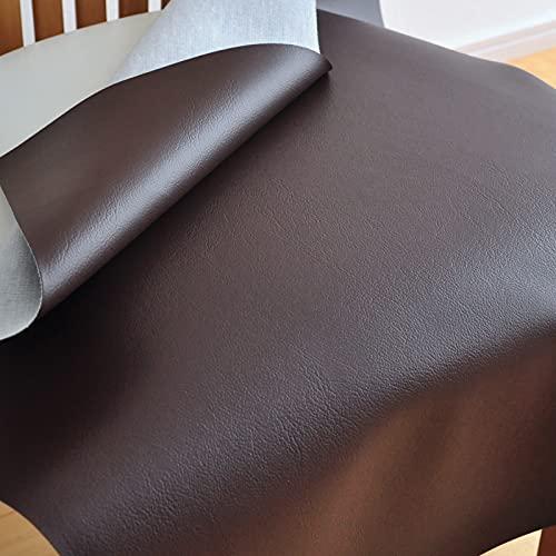 【ワイド版】 椅子 生地 レザー 幅70×60cm【1脚分カット済】 合皮 椅子の張替え用 張り地 張地 国産 抗菌 難燃   1441チョコ