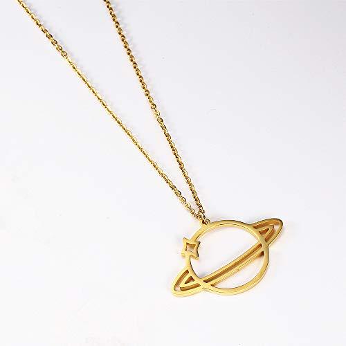 Holle ketting eenvoudige titanium stalen ketting 18K vergulde damesmode wilde sleutelbeen ketting goud
