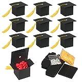 KATOOM 30Pcs Doktorhut Deko Box Herzlichen Glückwunsch Graduation Cap Dekoration Bachelor Hut Geschenkbox 2020 Abi Abschlussfeier Deko