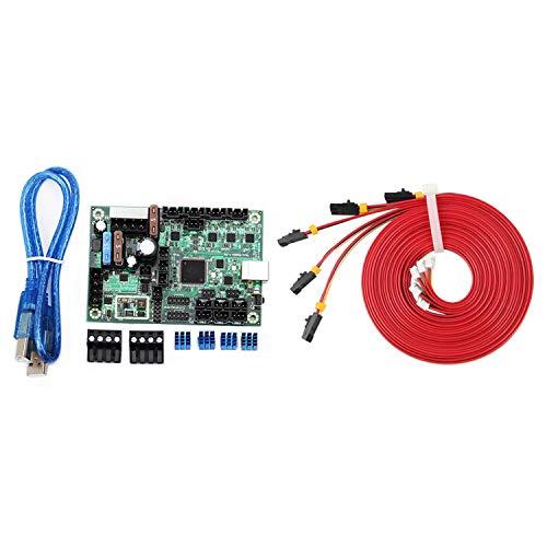 Wivarra 1Pcs 10-28V -Rambo 1.3 Control Board Set Kit & 5Pcs 1M Nama17 42 Stepper Motor Cables