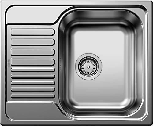 Blanco 516524 - Fregadero de un seno, color: plateado