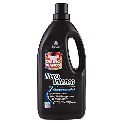 Omino Bianco Detersivo Liquido Lavatrice, Specifico per Bucato Nero Intenso, 7 Azioni, con Tecnologia Rinnova Nero, 1000 ml, Capi Scuri