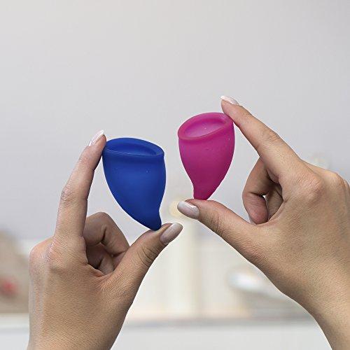 FUN FACTORY FUN CUP EXPLORE KIT – Zwei Menstruationstassen für starke und schwache Blutung inkl. Tasche - 7