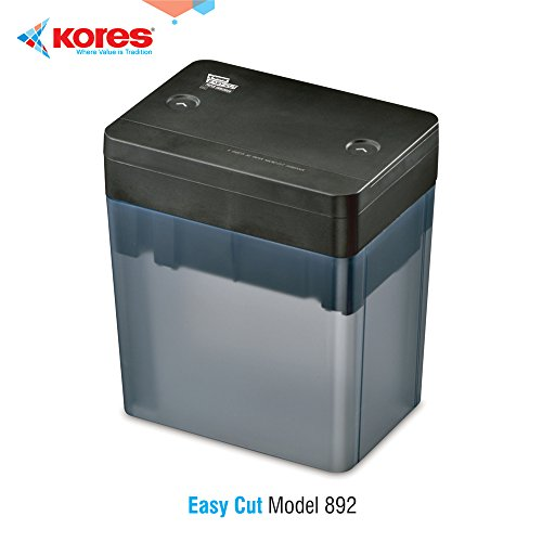 Kores Easy Cut 892 Paper Shredder | 6 Sheets Capacity | 1 Year Warranty| Microcut