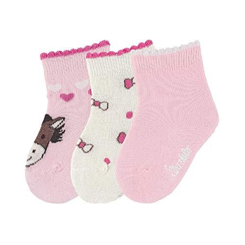 Sterntaler Baby-Mädchen Söckch.3er-Pack Pony Socken, Rosa, 16