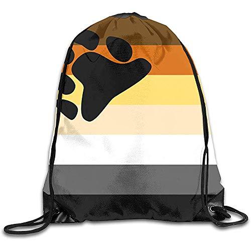 Bolsa De Gimnasio,Drawstring Bolso,Mochila De Alpinismo,Mochilas De Cordones,Bear Brotherhood Flag Adult Sport Gym School Travel String Pull Bag,Cinch Pack