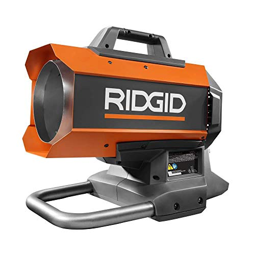 Ridgid 18-Volt Hybrid Forced Air Propane Portable...