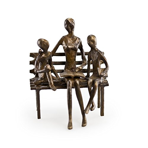 Teacher Reading to Children Bronze Sculpture