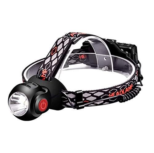 SMSOM Faro LED, diseño liviano, Resistente a la Intemperie, Recargable, USB-C, Rojo, Camping, Correr, Senderismo, se Ajusta a los Sombreros Duros, Noche