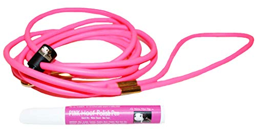Mini Pig Adjustable Pink Harness & Pink Hoof Polish Set - Also fits Pot Bellied Pigs and Other Small Animals -Ferret, Rabbit, Dog, Cat