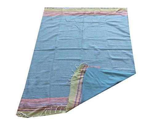 TEXTIL TARRAGO Toalla pareo gigante lisa azul 140x175 cm doble