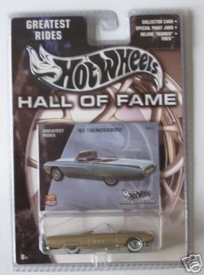 Mattel Hot Wheels 2002 Hall Of Fame Greatest Rides 1:64 Scale 35th Anniversary Tan 1963 Ford Thunderbird Die Cast Car -  Burago, 21063bl