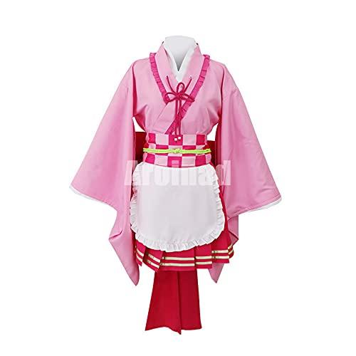 ULLAA Tsuyuri Kanao, disfraz de Cosplay, delantal de sirvienta, trajes de Demon Slayer para exhibicin de anime, mascarada de Halloween