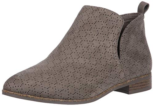 Dr. Scholl's Shoes womens Rate Ankle Boot, Olive Perforated Microfiber Suede, 9 US