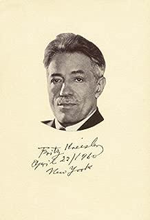 fritz kreisler autograph