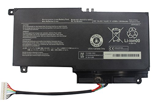 PA5107U-1BRS Laptop Battery Compatible with Toshiba Satellite L50 L50-A L55 L55t P50 P50-A P50-b P55t-a P55t-A5116 S55-A5295 S55t-A5202 S55t-A5337 S55t-A5389 P55-A5200 L55-A5284 PC Notebook.