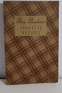 Mary Dunbar's Favorite Recipes