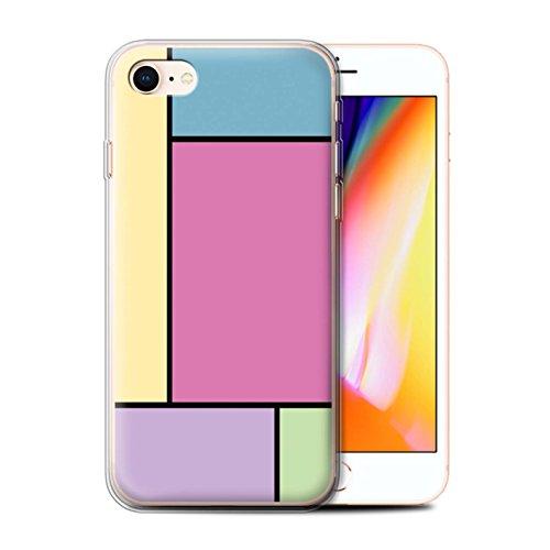 Stuff4 Telefoonhoesje/Cover/Skin/IP-GC/Pastel Tegels Collectie Apple iPhone SE 2020 5 Tegels/Roze
