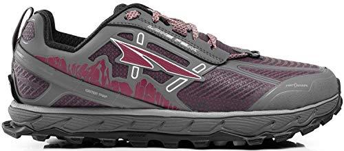 ALTRA Women's ALW1855L Lone Peak 4 Low RSM Waterproof Trail Running Shoe, Gray/Purple - 11 M US