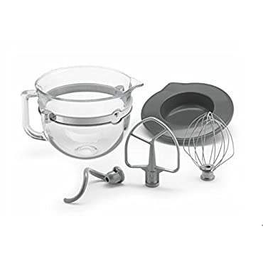 KitchenAid 6 Quart Glass Mixing Bowl with Accessories for Bowl-lift Stand Mixers