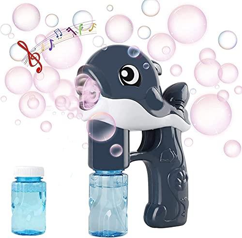 U/N Seifenblasenmaschine für Kinder,seifenblasenpistole elektrisch,seifenblasenpistole,Seifenblasen Pistole,mit 2 Seifenblasenflüssigkeit,Seifenblasenpistole für Indoor & Outdoor Spiele(grau)