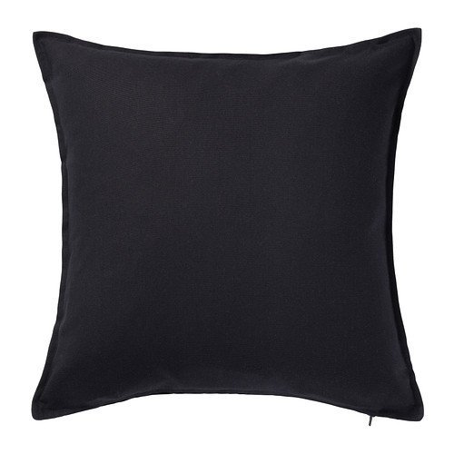 Ikea Gurli - Funda de cojín, color negro - 50x50 cm, negro, 3 unidades