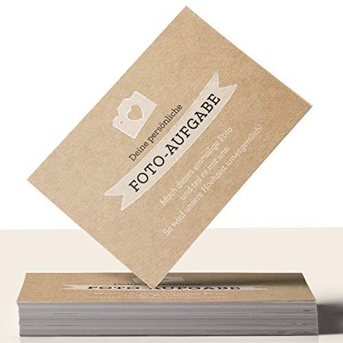 Fotospiel: 50 Fotoaufgaben für die HOCHZEIT + 2 Blanko Fotokarten – für die unvergessliche Feier und Gäste, die sich ungezwungen kennenlernen