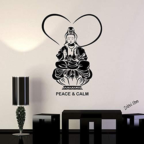 Yaonuli Boeddha Meditation Muurtattoo Rustige Boeddhisme Boeddhistische muursticker voor yoga Studio Afneembare kunstwand voor de woonkamer