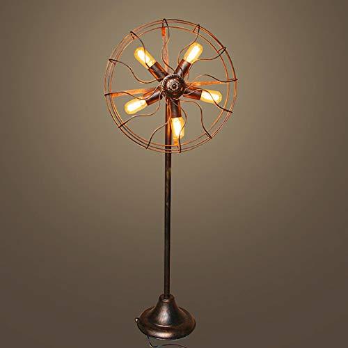 MJBOY industriële retro vloerlamp met metalen kist draad E27 5 lampen roest brons van smeedijzeren waterslang lamp van voet 1,42 m voor woonkamer slaapkamer nachtkastje