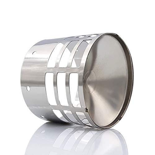 Tygerix - Terminal horizontal de acero inoxidable con rejilla de protección contra el robo de 80 mm de diámetro y descarga de humos, calderas y estufas + grosor + resistencia, superior