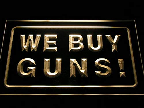 Soldering ADVPRO We Buy Guns Display Shop Firearms Yellow Neon Sign 16 LED Sale price