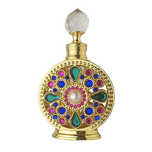 WHK Botella de Perfume de Diamantes de imitación de 10 ml,Botellas de Aceite Esencial Recargables vacías Envase cosmético Aceites Esenciales Frasco gotero