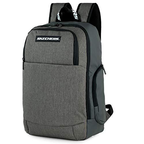 SKECHERS - Lässiger Rucksack Laptop-Fach innen. Perfekt für den täglichen Gebrauch. Praktisch, komfortabel und vielseitig S1002, Color Eisgrau