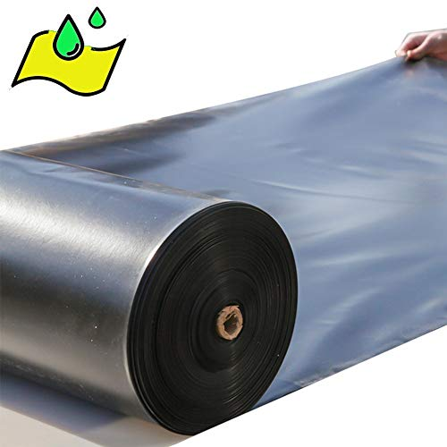 LJIANW Abdeckplane Teichfolien PVC-Liner Wasserdicht Reißfestigkeit Plastikfolie Ideal for Teiche, Koi-Teiche, Wassergärten und Brunnen, 44Größe (Color : Black, Size : 6x8m)