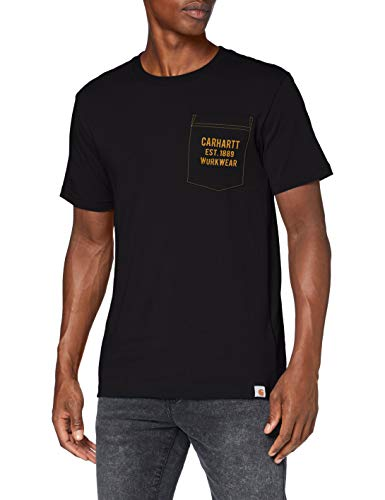 Carhartt Graphic Pocket T-Shirt, Black, M Uomo