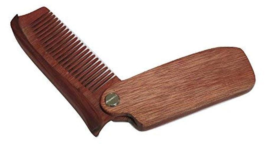 スキー興奮宗教TrendyLuz Wooden Folding Wood Comb Pocket Size Head Facial Hair Beard Mustache [並行輸入品]